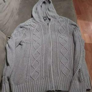 Gap knit zip up sweater